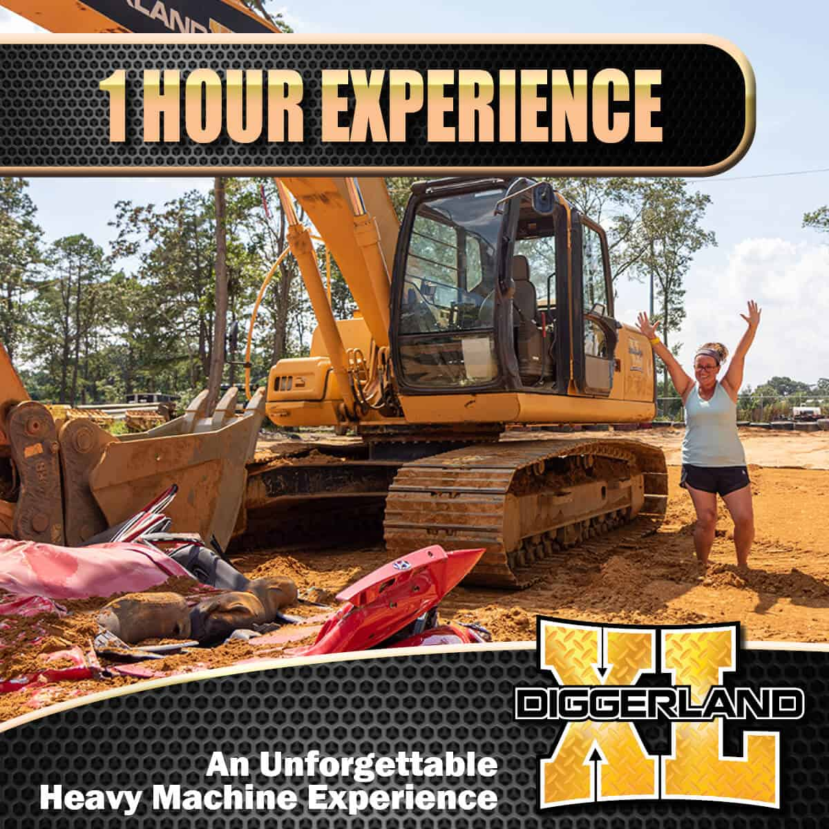 Diggerland XL experience 1 hour package