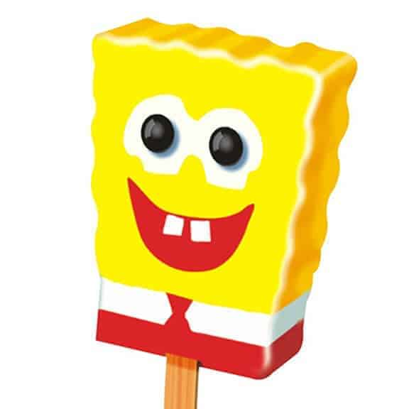 Sponge Bob theme ice cream treat