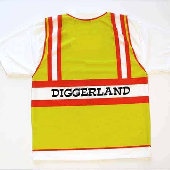 Back of the cloth t-shirt construction vest