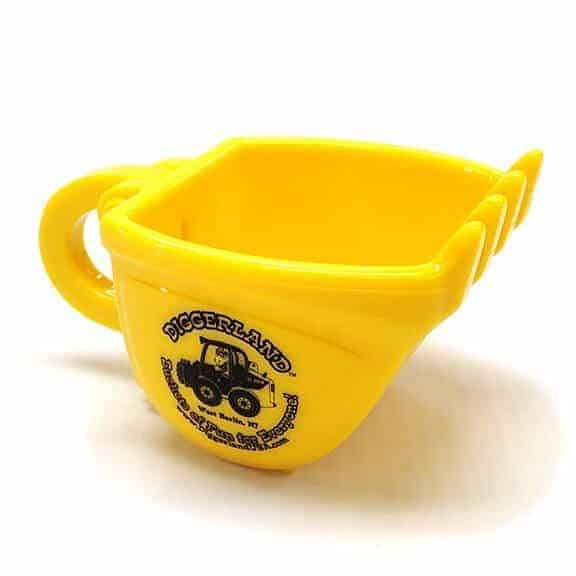 Diggerland yellow coffee mug one side