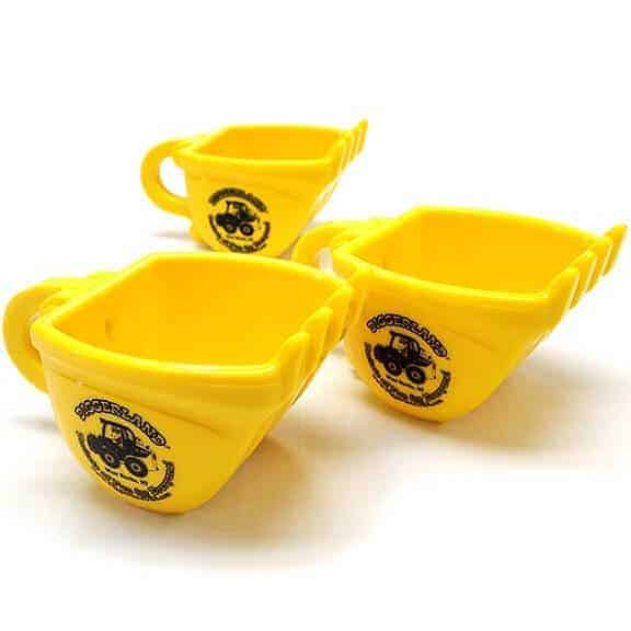 Diggerland yellow coffee mugs three sides