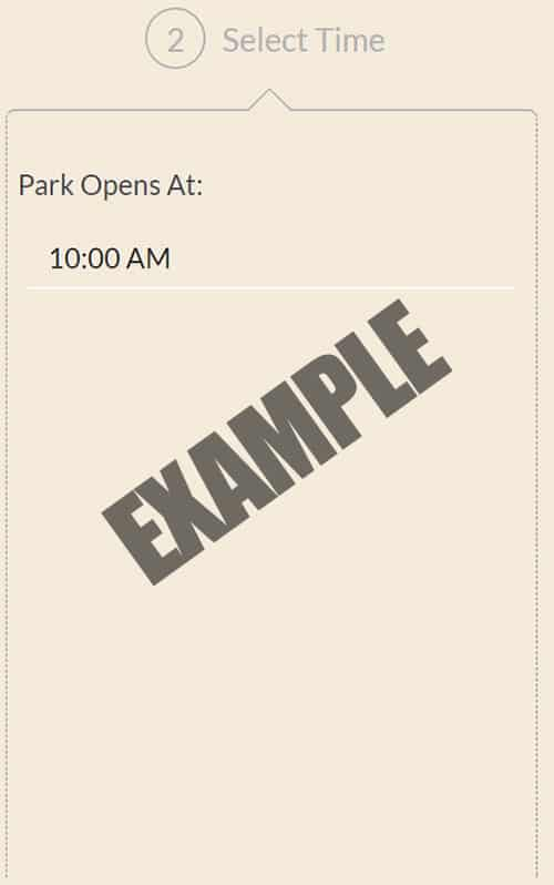 Select the time the park opens