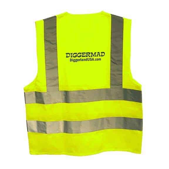 Diggerland yellow construction vest back