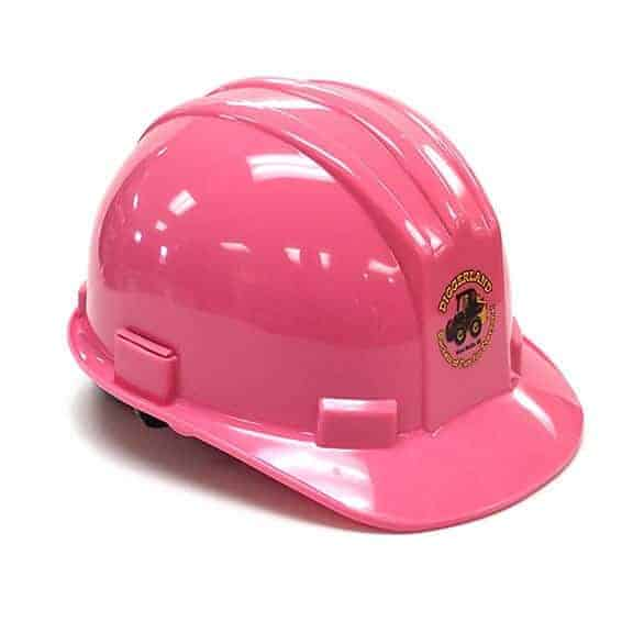 Pink Diggerland hard hat front side