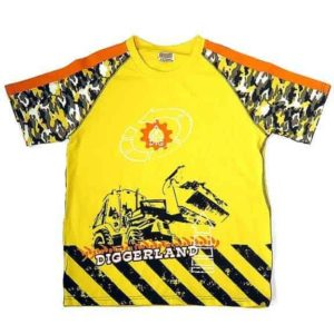 Diggerland eclectic t-shirt yellow and camo