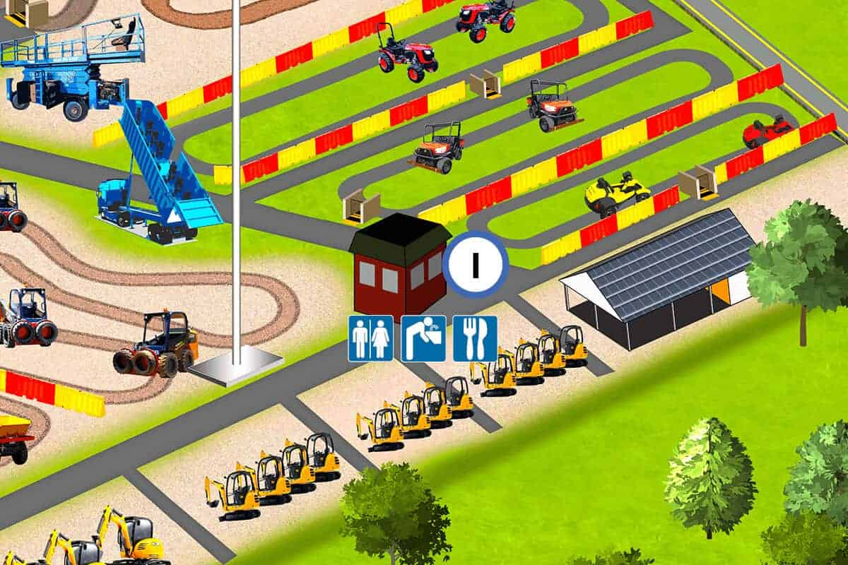 Location of The Munch Box snacks and beverages at Diggerland