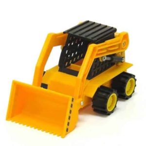 Mighty wheels skid steer front bucket down
