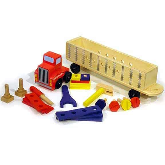 Diggerland truck with tools construction play set top spread out