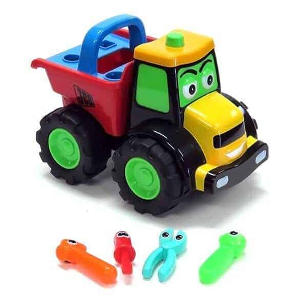 JCB Helpful Doug dump truck side with tools out