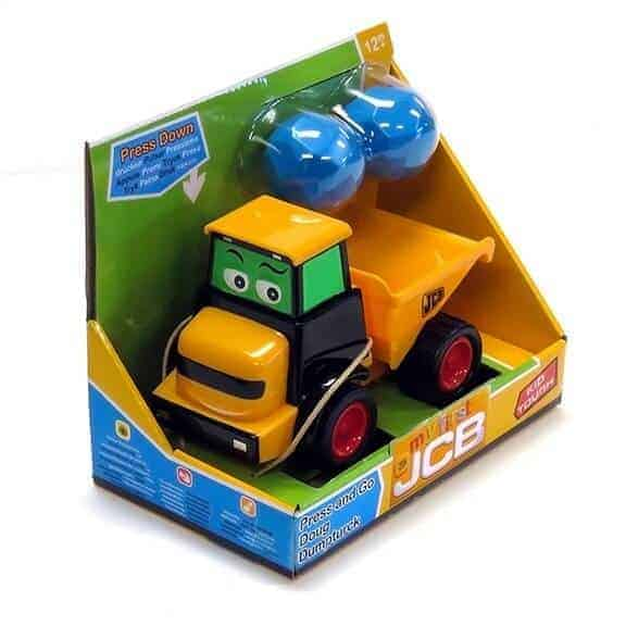 JCB Press and Go Doug dump truck in package
