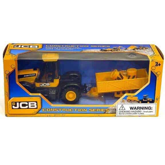 JCB tractor construction series with trailer in package